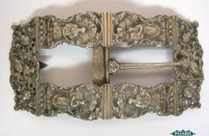 Pasarel - Rare & Important Dutch Silver Belt Buckle For The Day Of Atonement, Ca 1850, Judaica. $1850