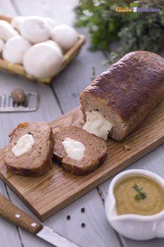 Direttamente dai ricettari della nonna il POLPETTONE CON CUORE DI SCAMORZA (cheese stuffed meatloaf)! #ricetta #GialloZafferano #italianfood #italianrecipe