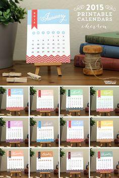 2015 DIY Desk Calendar Printables