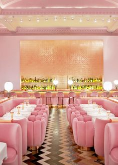 sketch London: The Design Icon The famous pink Gallery restaurant at sketch in London. Beautiful pink interior design with rose gold finishes. Luxury restaurant design featured on www.martynwhitede… - Add Modern To Your Life Restaurant Design, Restaurant Bar, Luxury Restaurant, Sketch Restaurant, Industrial Restaurant, Pink Restaurant London, Restaurant Reservations, Design Hotel, Bathroom Interior Design