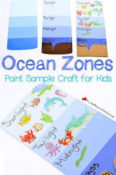 Learning About the Layers of the Ocean (Paint Sample Craft for Kids) | A Little Pinch of Perfect