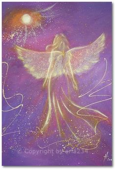 "Limited angel art photo ""touching soul"" , modern angel painting, artwork, perfect also for picture frame. €10.00, via Etsy."