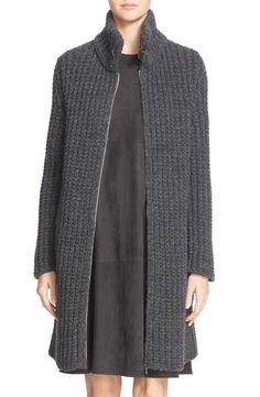 Fabiana Filippi Gauge Knit Cashmere Sweater Jacket