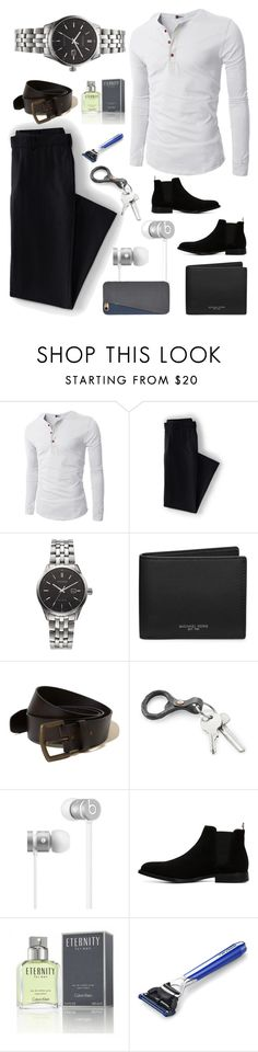 """""""Untitled #719"""" by ellma94 ❤ liked on Polyvore featuring Lands' End, Citizen, Michael Kors, Hollister Co., Beats by Dr. Dre, ALDO, Calvin Klein, The Art of Shaving, FOSSIL and men's fashion"""
