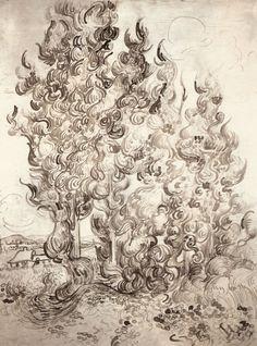Cypresses - Vincent van Gogh