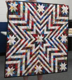 """Exploding Star Quilt Pattern Free   pattern found in """"the Best of Scrap Quilting Made Easy"""""""