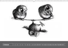 """Three Owls Tightrope"" by Stefan Kahlhammer"