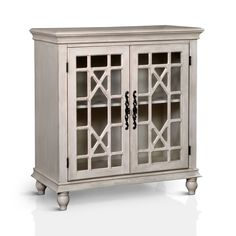 Furniture of America Briella Vintage Style Double-Door Floor Cabinet