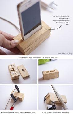 ideas en polvo: Tutorial-Diy: Cómo hacer tu propia base-cargador de móvil