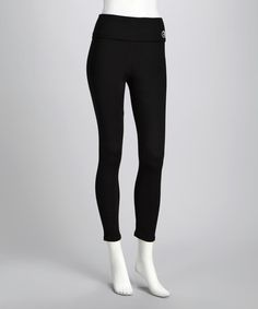 Take a look at this Black Extreme-Fabric Leggings - Women & Plus by Wear Me Out on #zulily today!