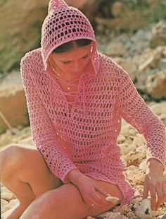 Hooded Beach Cover-up Crochet Pattern on Etsy, $2.83