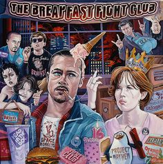 """The Breakfast Fight Club"" by Dave MacDowell Studios, via Flickr"