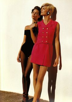 Christy Turlington and Linda Evangelista for Chanel, by Karl Lagerfeld