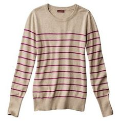 Merona® Women's Crewneck Striped Pullover Sweater - Assorted Colors click image to zoom