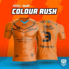 EMU Sportswear Kitbuilder allows any team to choose their items & customise them to suit their teams colours & style. Jersey Designs, Color Rush, Team Wear, Rugby League, Cairns, Workout Wear, Team Logo, Activewear, Nfl