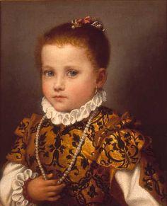 Ritratto di bambina di casa Redetti/Porträt eines Mädchens aus dem  Hause Redetti 1566-1570