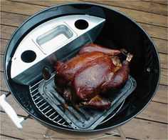 "Amazon.com : Smokenator 1000 - Transform Your 22"" Weber Kettle Into Efficient Smoker : Grill Accessories : Patio, Lawn & Garden"