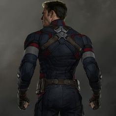 In anticipation of Captain America: Civil War I'll be posting some Cap concept art! This is back view design image from Avengers: Age of Ultron! I worked in a subtle blue star on his back, can you see it? #captainamerica #captainamericacivilwar #teamcap #chrisevans #marvelstudios #mcu #ryanmeinerding #conceptart #conceptdesign #characterdesign