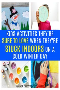 There's no doubt about it, kids get bored when they are stuck indoors. Here are 40 fun activities to keep them entertained and busy no matter the day! Indoor Activities For Kids, Fun Activities For Kids, Winter Activities, Crafts For Kids, Everything Baby, Getting Bored, Mom Blogs, Kids House, Organization Hacks