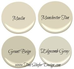 manchester tan HC-81 | Top 4 Colours to Paint a Rental or to Sell Your Home. Try pairing Manchester Tan w/Stone Harbor (mixing a warm w/a cool color) Tan Paint Colors, Beige Paint, Exterior Paint Colors, Paint Colors For Home, Benjamin Moore Paint, Grant Beige Benjamin Moore, Benjamin Moore Muslin, Rental Property, Kitchen Ideas