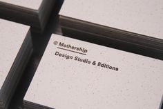 Mixed fibre business card designed by Mothership.