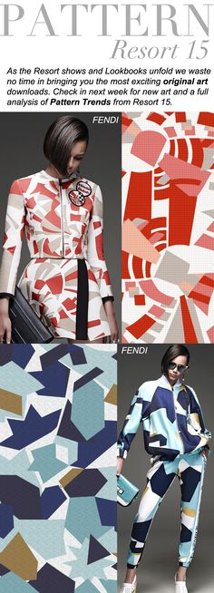 I like this kind of geometric print Ss15 Trends, 2015 Fashion Trends, Fashion Colours, Colorful Fashion, Trend Council, Fashion Prints, Fashion Design, Color Trends, Pattern Fashion