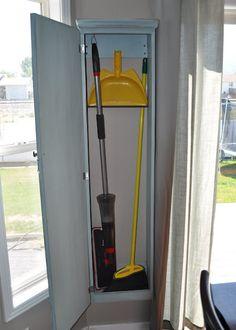 Broom Storage On Pinterest Vacuum Cleaner Storage