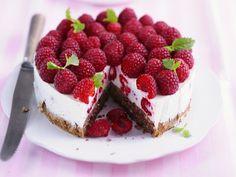 Auweia - sieht diese Torte aber lecker aus! Himbeertorte - smarter