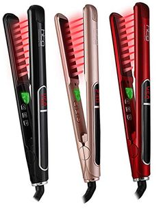 Buy HTG Pro Flat Iron with Infrared Ionic Technology Hair Straightener 1  inch Titanium Ion Ceramic Tourmaline Plates LCD Display Dual Voltage  Suitable for ... 4c02aed5bd5e