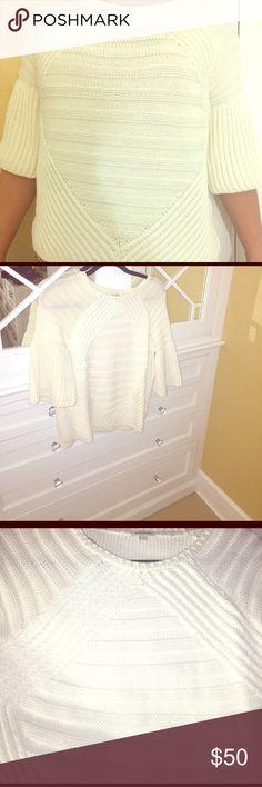 Cotton sweater Soft a-line 3/4 sleeve sweater. U.K. Size 12 / U.S size 10... run more like a US size 8 Sweaters Crew & Scoop Necks
