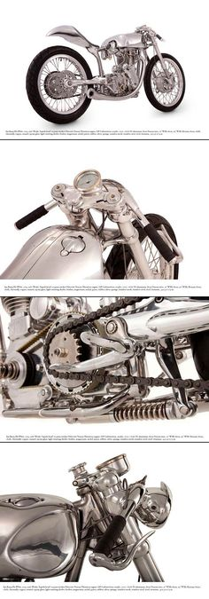 A first glimpse of Ian Barry's latest motorcycle, the Velocette-powered White Falcon.