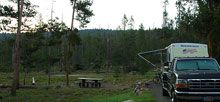 Mt. Heyburn Campground is composed of 20 campsites near Redfish Lake. At least 8 sites can accomodate up to 16 campers. The campground is situated in a lodgepole pine forest.