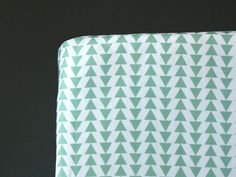MINT TRIANGLES- Crib Fitted Sheet- Baby/Toddler Bed Sheet