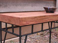 Custom Rustic Industrial Coffee Table Sofa Table Side by SoulSeeds Modern Home Furniture, Metal Furniture, Industrial Furniture, Rustic Furniture, Classic Furniture, Furniture Ideas, Table Sofa, Table Legs, Industrial Side Table