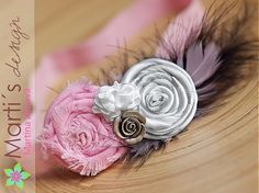 Martisdesign / Čelenka s květinou vintage