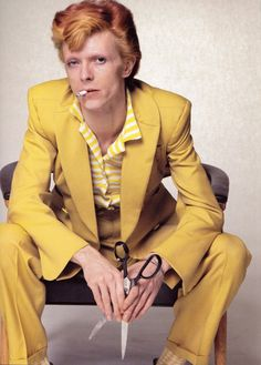 David Robert Jones (born 8 January known by his stage name David Bowie is an English musician, singer-songwriter, producer, actor and arranger. Bowie has been a major figure in Glam Rock, Yellow Suit, Mellow Yellow, Mustard Yellow, Bright Yellow, Yellow Fever, Mick Jagger, David Jones, 70s Fashion