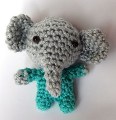 4/27/15  Mini Baby Elephant - link to free pattern