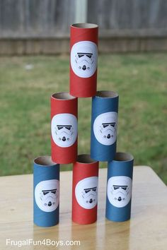 Star Wars Nerf games from Frugal Fun for Boys   Make some Storm Trooper targets for nerf shooting.