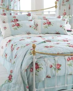 Pretty new linens for the bed....................