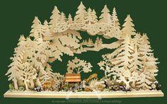 3D-Schwibbogen gr., Rehe im Wald