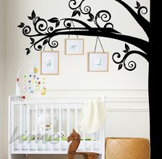 LimeDecals - SWIRL TREE WALL DECAL, $90.00 (http://limedecals.com/swirl-tree-wall-decal/)