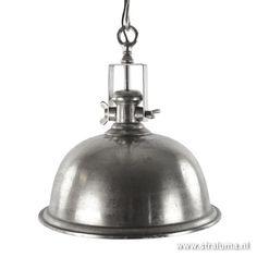 Landelijke hanglamp antiek zilver keuken - www.straluma.nl