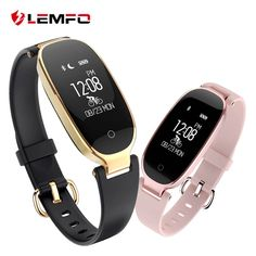 8b4ed89385e3 S3 Smart Wristbands Fitness Bracelet Heart Rate Monitor Fitness Bracelet  Band Gift to Lady for IOS