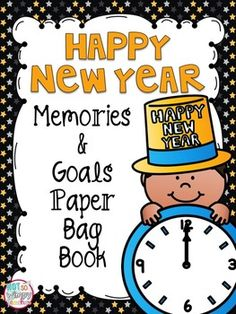 This fun and FREE activity is perfect for those first couple of days back to school after winter break. Celebrate the new year in your classroom by making a book that allows students to document their memories from 2015 and set goals for 2016! The book is made with paper lunch pass that can be purchased for a couple dollars from Walmart, Target or a grocery store.