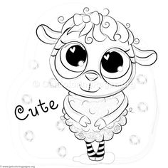 Free Download Cute Standing Sheep Coloring Pages Coloringbook Coloringpages Animals