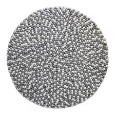 Kugletæppe, grå & hvid - Ruggit