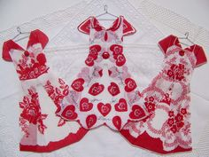 Do you have a valentine hanky you would like to have made into a dress like this? They make wonderful interior door decorations.