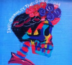 Bradley Theodore Paints Mural of Frida Kalho