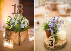 numero-de-table-centres-de-table Wedding Wishes, Wedding Day, J'ai Dit Oui, Wedding Table Seating, Deco Floral, Wedding Decorations, Table Decorations, Seating Charts, Table Numbers