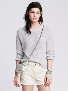 Nubby Cropped Pullover Product Image